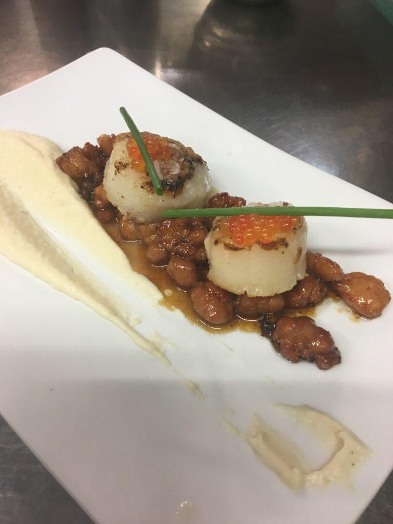 El Pintu Llaviana - Mollejes de lechazu, vieira y patata afumá