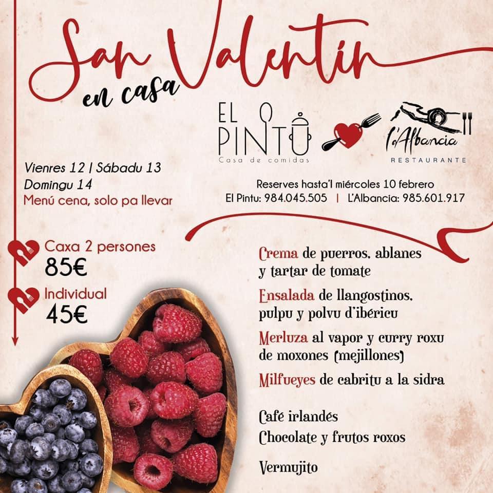 El Pintu Llaviana - Menú de San Valentín
