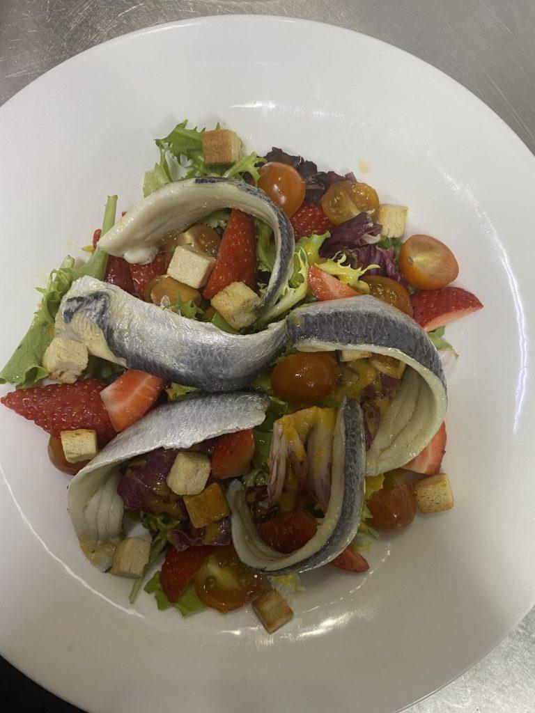 El Pintu Llaviana - Ensalada de sardinas marinadas y escabeche de verdures